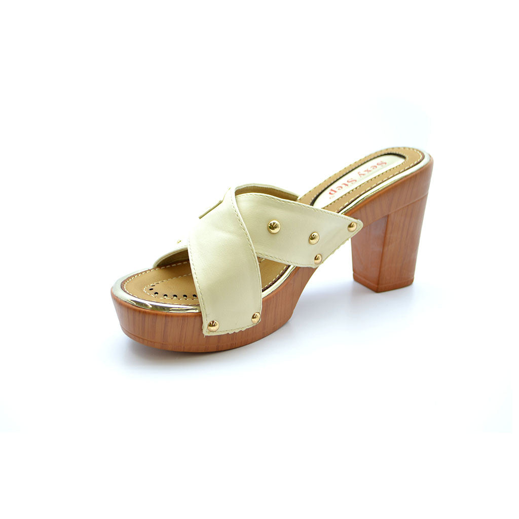 AGNES 17 WHITE MEDIUM HEELS - Bacana Clothing + Shoes