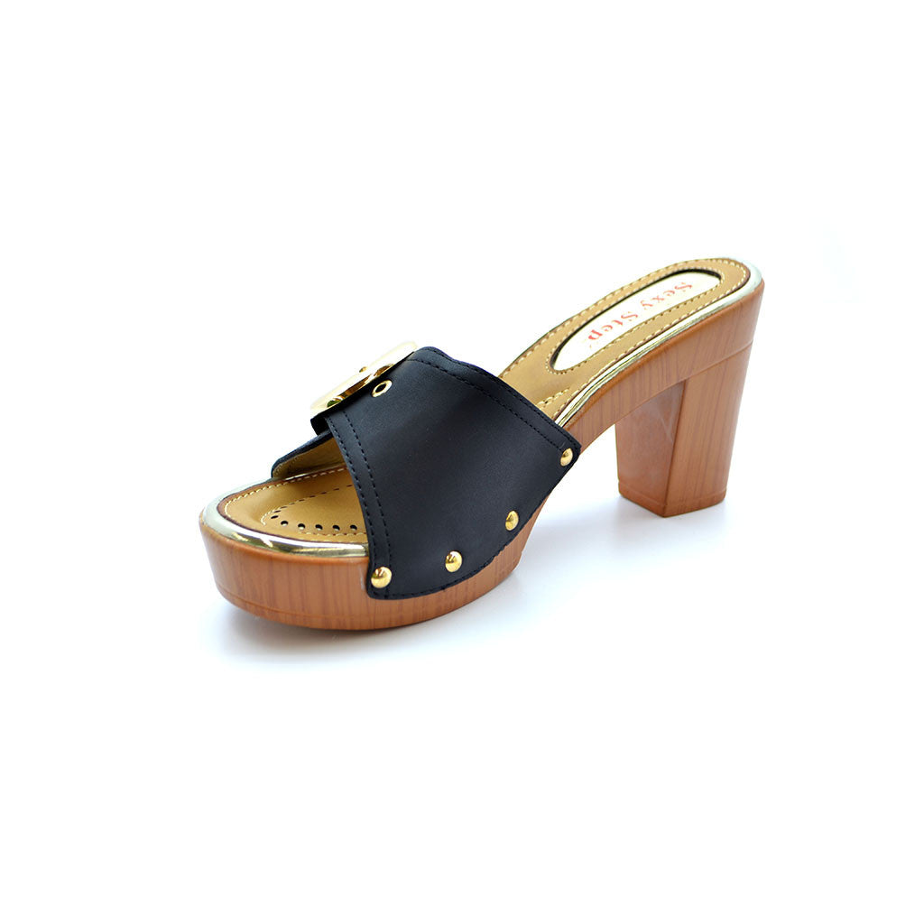 AGNES 18 BLACK MEDIUM HEELS - Bacana Clothing + Shoes