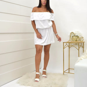 Sea Spice White Dress NW1084
