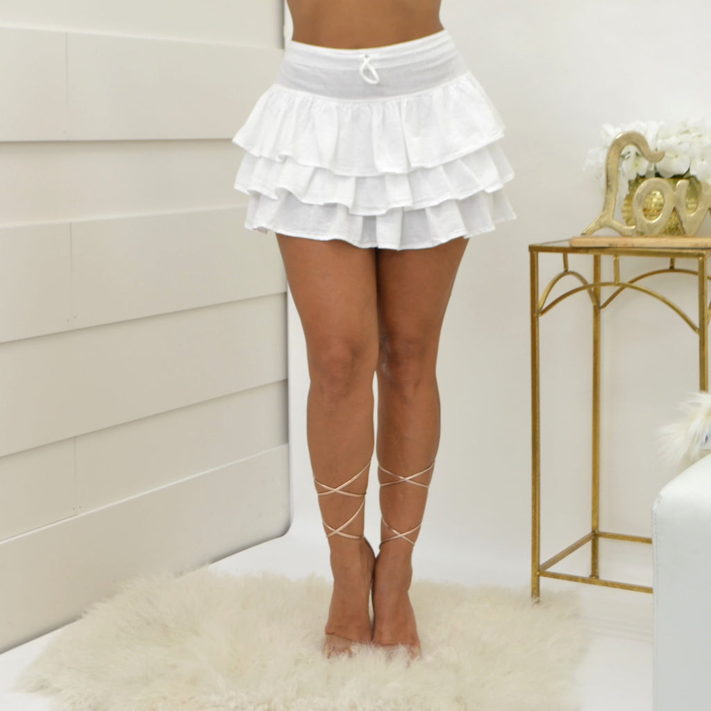 Sea Spice White Skirt NW1030 - Bacana Clothing + Shoes