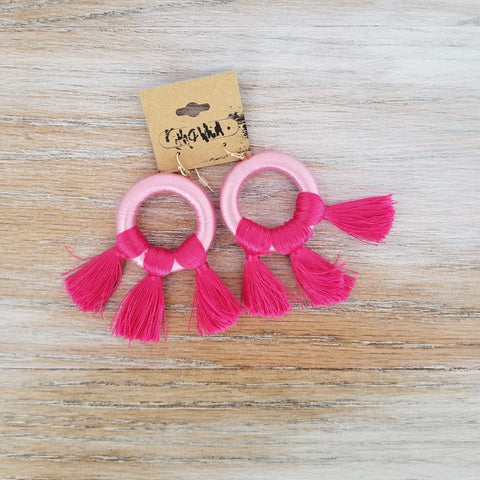 Kith and Whim Everything Pink Breast Cancer Awareness Earring