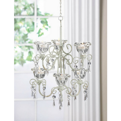 Shabby chic scroll candle chandelier donachellis rustic decor crystal blooms double candle chandelier 3995 shabby chic scroll candle chandelier aloadofball Image collections