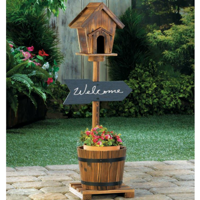 Rustic Wishing Well Planter Donachelli S Rustic Decor