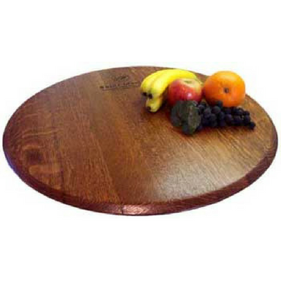 Wine Barrel Head Lazy Susan 4 Stain Options Donachellis Rustic