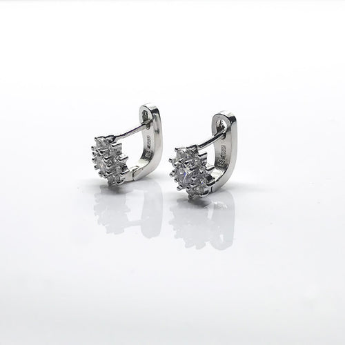 Silver England Lock Earrings - by Galia