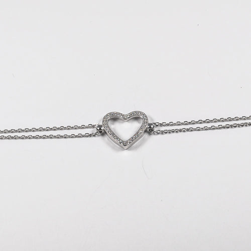 Love Heart Zirconia Heart Bracelet - by Galia