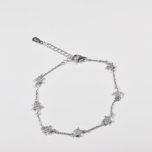 Tiny Stars clear Zirconia Bracelet - by Galia