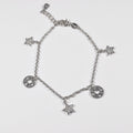 Start & Circles Pendants Clear Zirconia Bracelet - by Galia