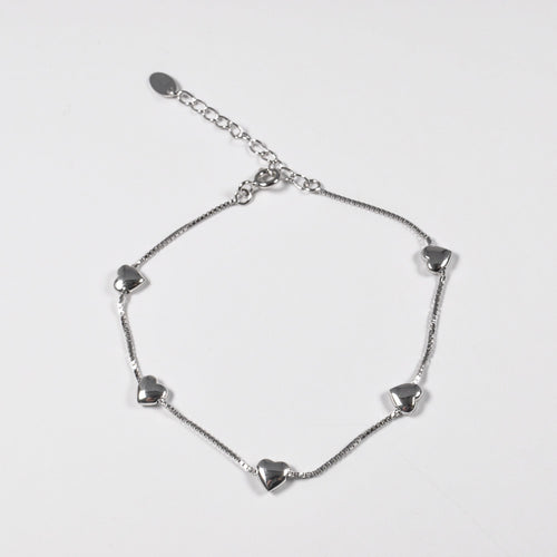 Tiny Hearts Silver Bracelet - by Galia