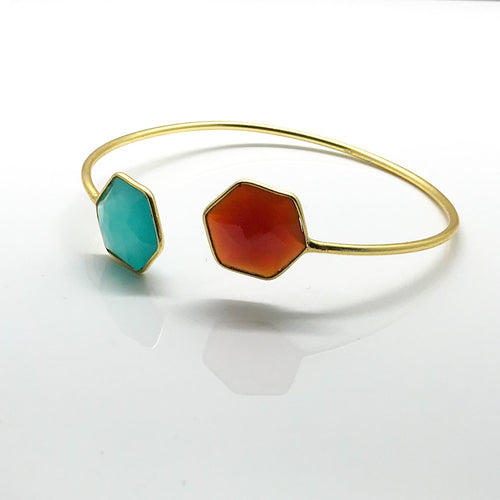 Aqua & Terra Open Cuff Bracelet - by Galia