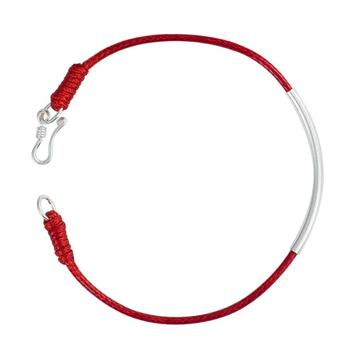 Silver Red Protective Bracelet - by Galia