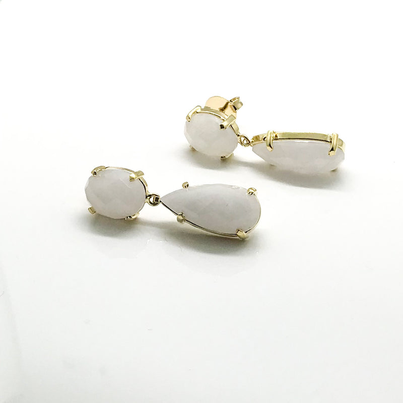 Opaque White Earring - by Galia