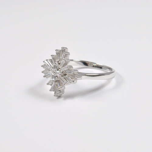 Clear Flower Ring - by Galia