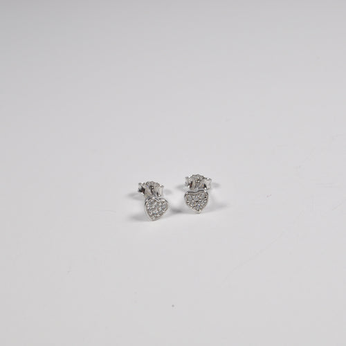Tiny Heart Earrings - by Galia