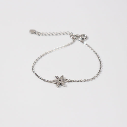 Daisy Flower Clear Zirconia Bracelet - by Galia
