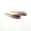 Purple Drop Earrings - by Galia