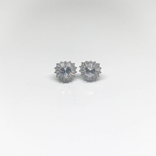 Clear Heart Stud Earrings - by Galia