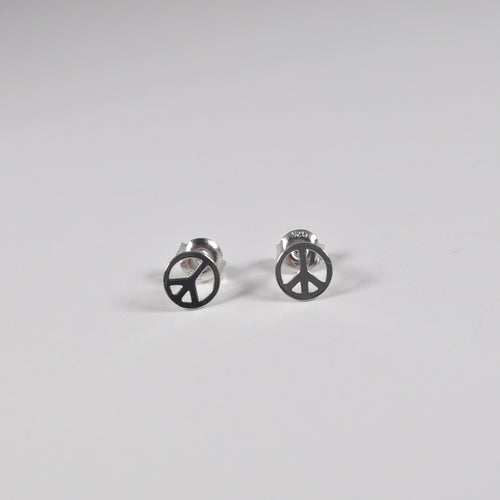 Peace Stud Earrings - by Galia