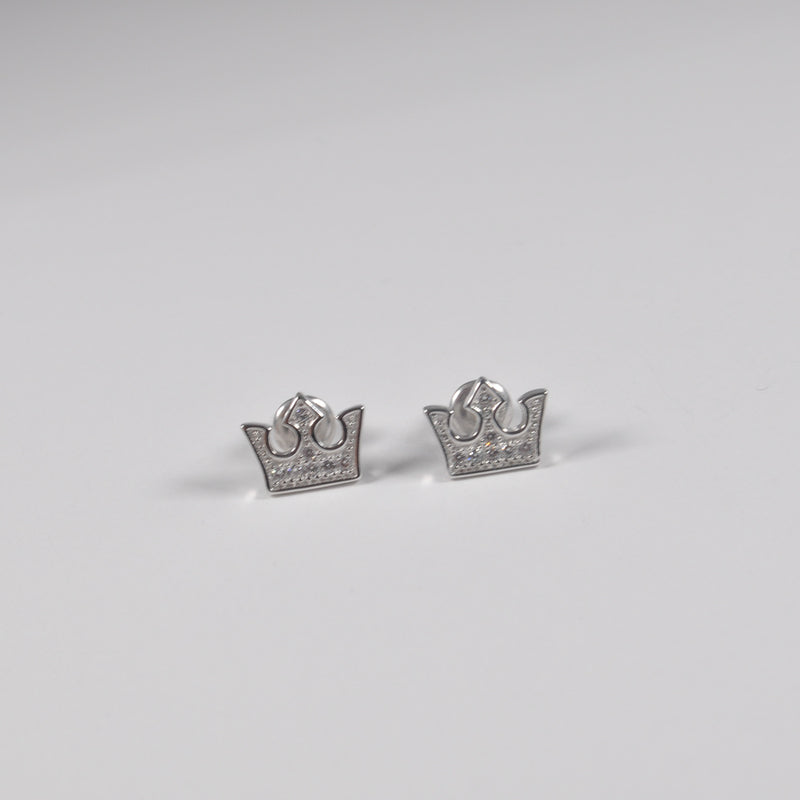 Queen Crown Stud Earrings - by Galia