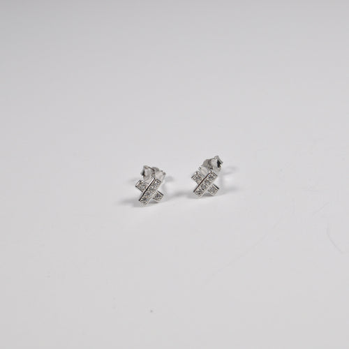 """X"" Stud Earrings - by Galia"