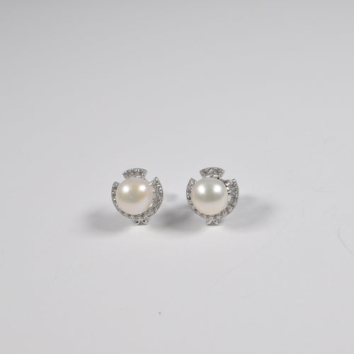 Royal Crown Pearl Earrings - by Galia