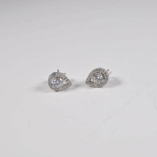 Rain Drop Zirconia Stud Earrings - by Galia