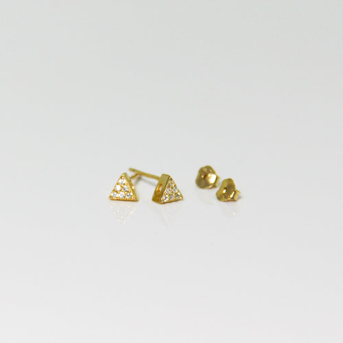 Girl Gold Triangle Earrings - by Galia