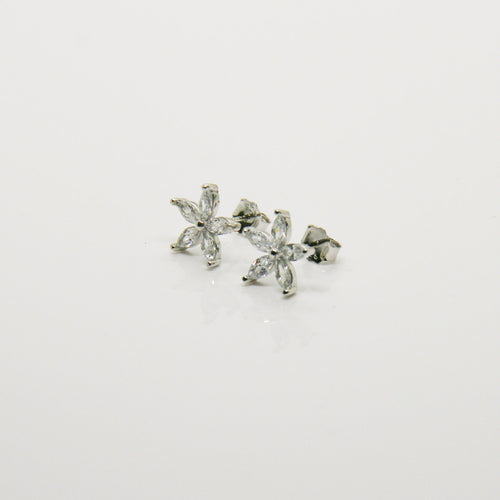 Girl Silver Flower Earrings - by Galia