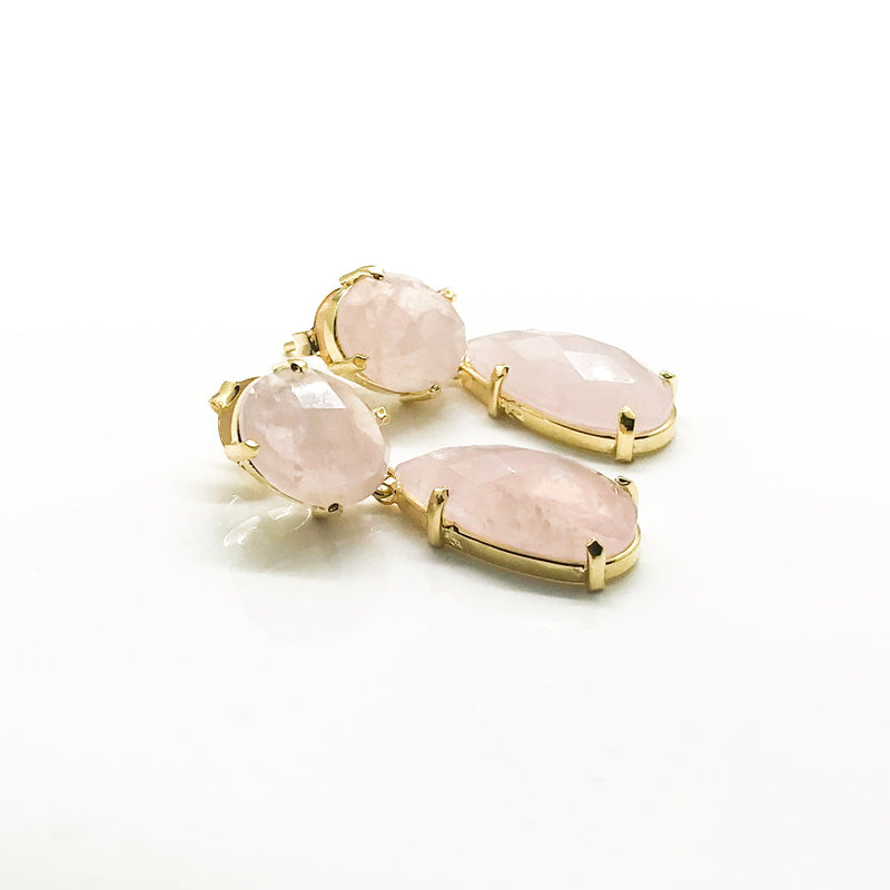 Light Rose Earrings - by Galia