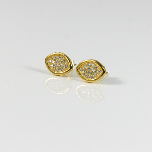 Cat Eye Stud Earring - by Galia