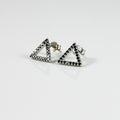 Pyramid Stud Earrings - by Galia