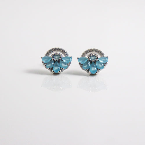 Abanico Celeste Earrings - by Galia