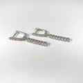 Silver Bar Pendant Earrings - by Galia