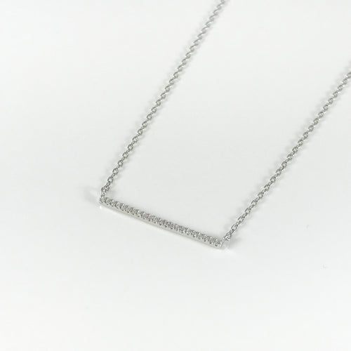 Silver Bar Pendant - by Galia