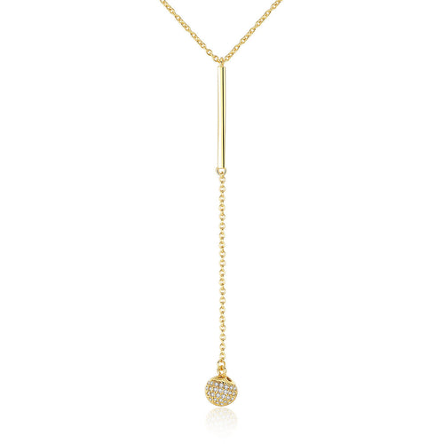 Geometric Gold Pendant Ball - by Galia