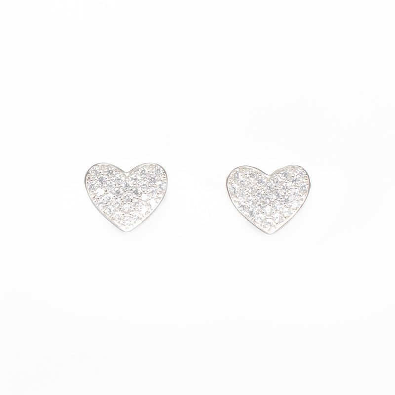 Heart Zirconia Luxury Earrings - by Galia
