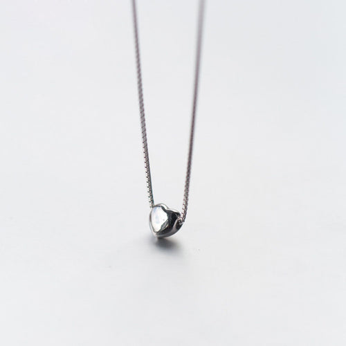 Tiny Mini Heart Necklace - by Galia