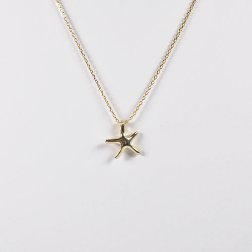 Gold Starfish Necklace - by Galia