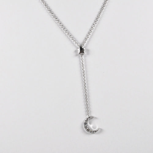 Moon & Start Zirconia Pendant - by Galia