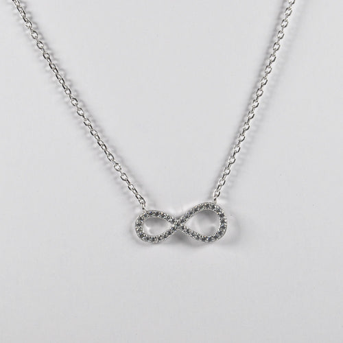 Infinity Clear Zirconia Necklace - by Galia