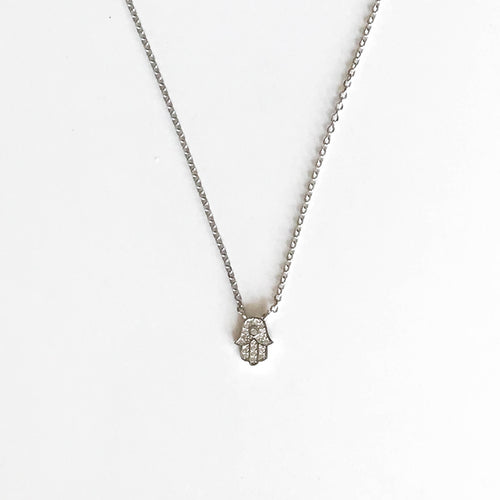 Mini Zirconia Hamsa Chain - by Galia
