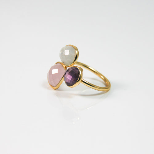 Rose Tones Quartz Ring - by Galia