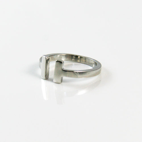 Silver Parallel Open Ring - by Galia