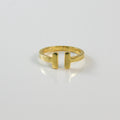 Gold Parallel Open Ring - by Galia
