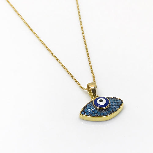 Protective Evil Eye Pendant - by Galia
