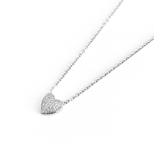 Mini Heart Zirconia Necklace - by Galia