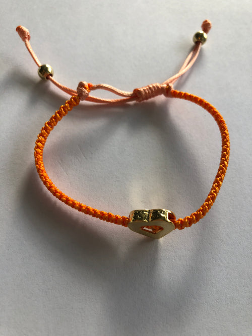 Orange Heart Bracelet Spain - by Galia