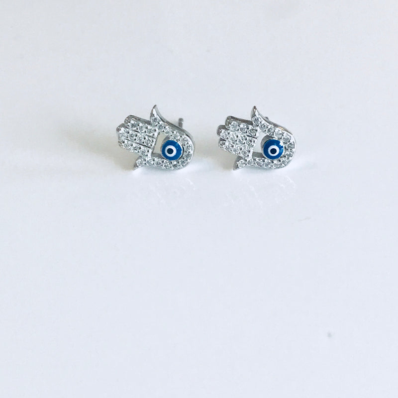 Fatima Hand Stud Earrings - by Galia