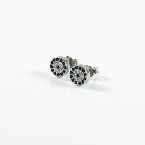 Lucky Round Stud Earrings - by Galia