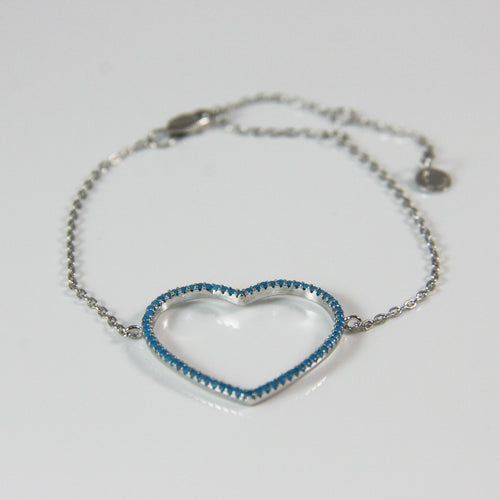 Blue Heart Bracelet - by Galia